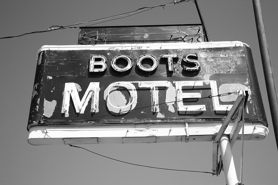 Route 66 - Boots Motel Photograph  - Route 66 - Boots Motel Fine Art Print