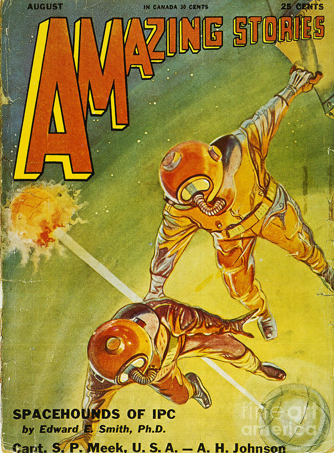 Sci-fi Magazine Cover 1931 Painting