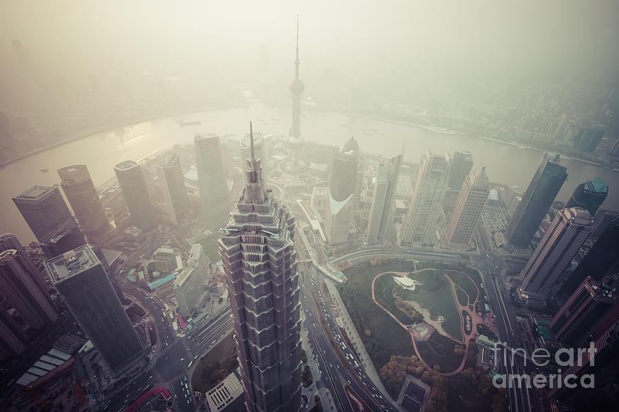 Shanghai Pudong Skyline Photograph