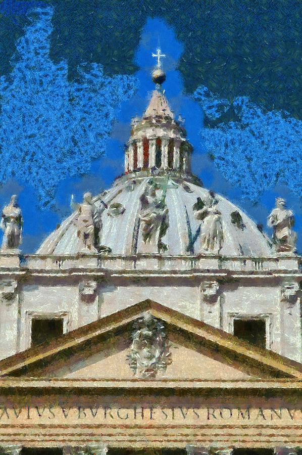 St Peter In Vatican Painting  - St Peter In Vatican Fine Art Print