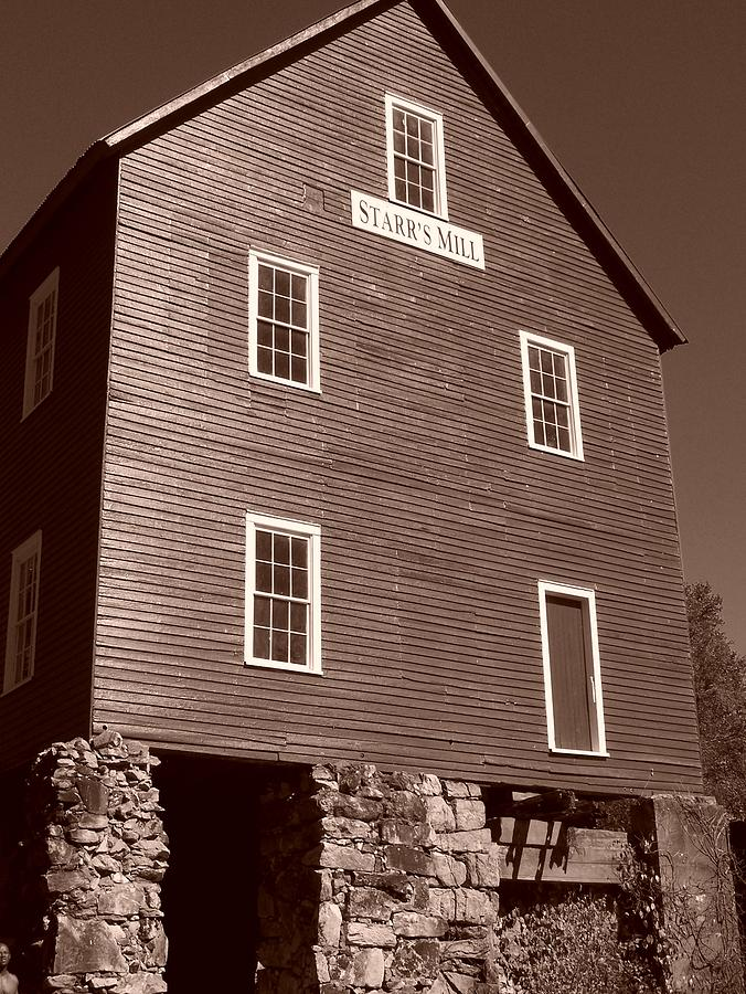 Sepia Phtotgraphy Photograph - Starrs Mill Ga by Jake Hartz