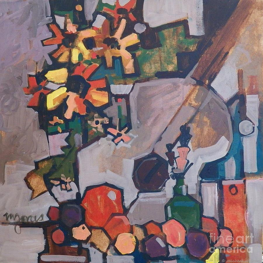 Still Life With A Guitar Painting  - Still Life With A Guitar Fine Art Print