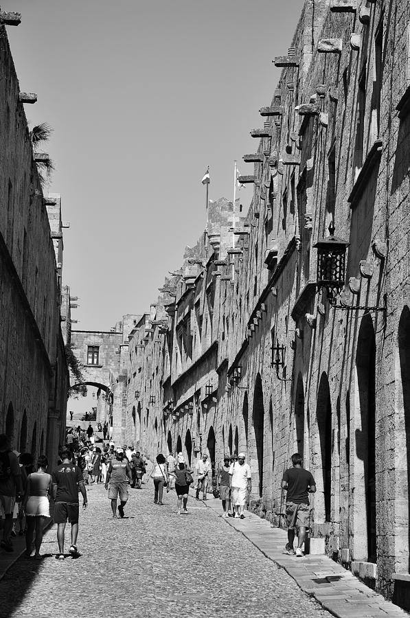 Street Of Knights Photograph