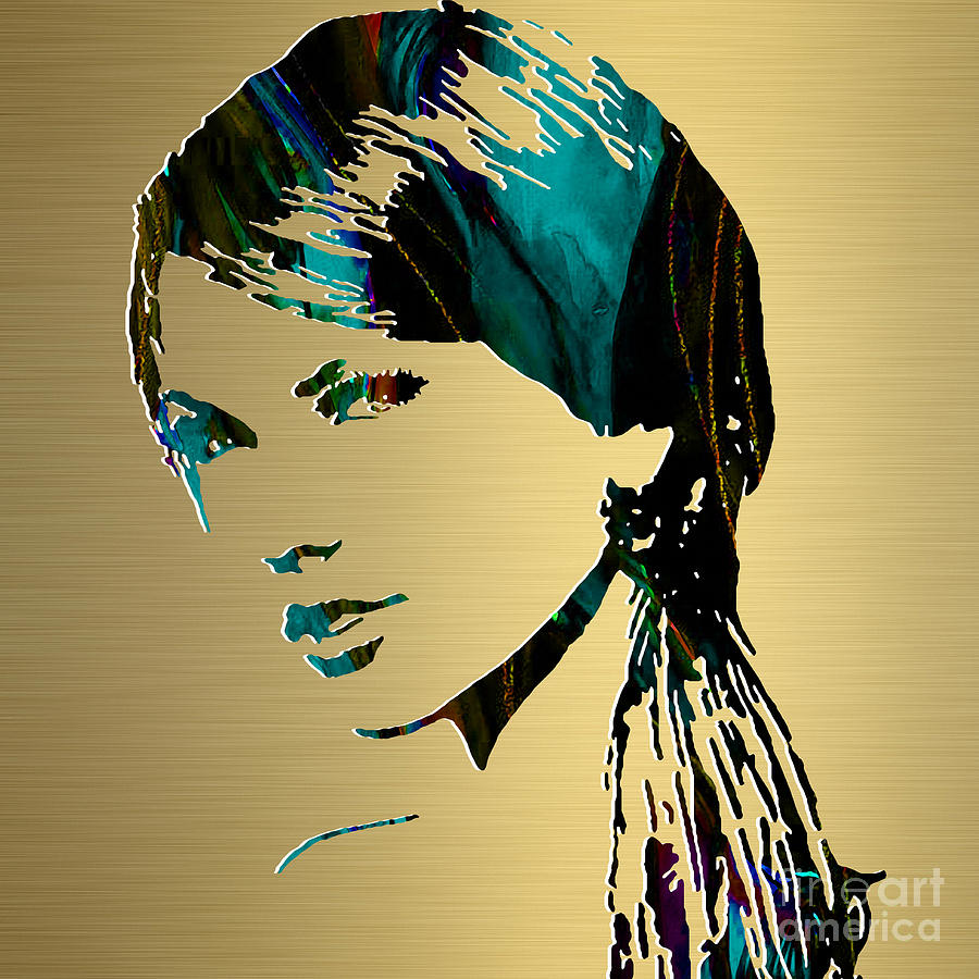 Taylor Swift Gold Series Mixed Media