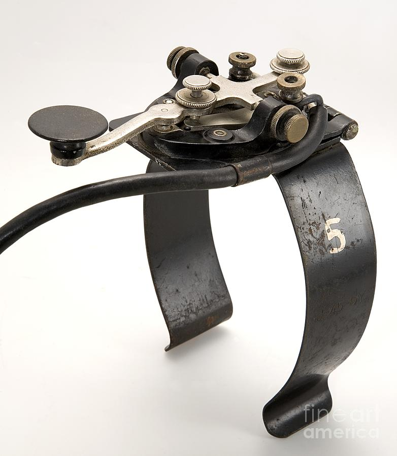 Telegraph key morse code type j 37 is a photograph by sheila terry