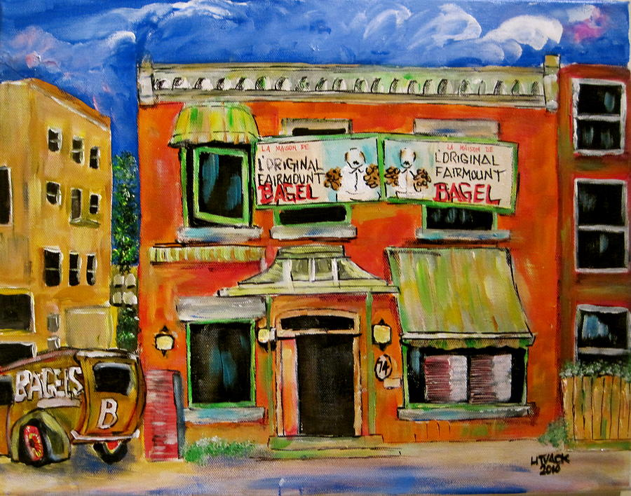 the Other Bagel Factory Painting