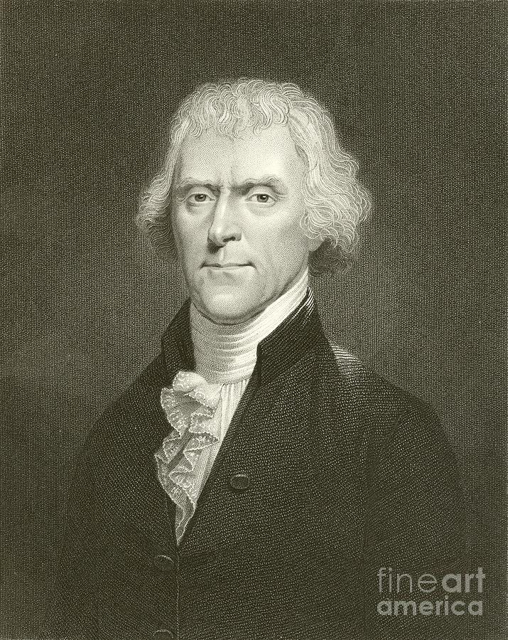 Thomas Jefferson Drawing - Thomas Jefferson by English School