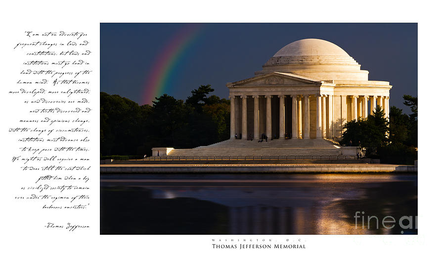 Thomas Jefferson Memorial Photograph by Doug Sturgess