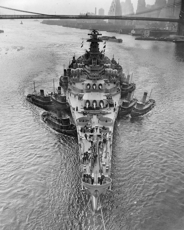 Rare Photograph - U.s.s. New Jersey by Retro Images Archive