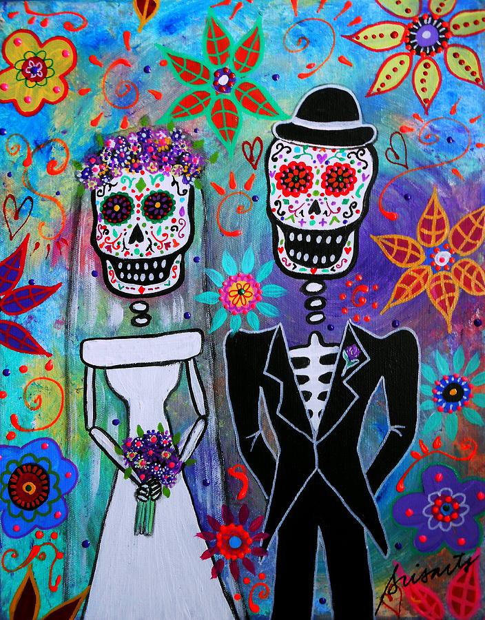 Wedding Dia De Los Muertos Painting By Pristine Cartera Turkus