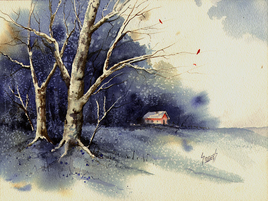 Cold Painting - Winter Tree by Sam Sidders
