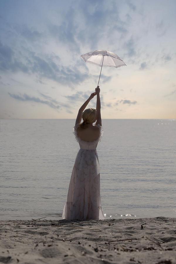 Woman At The Beach Photograph
