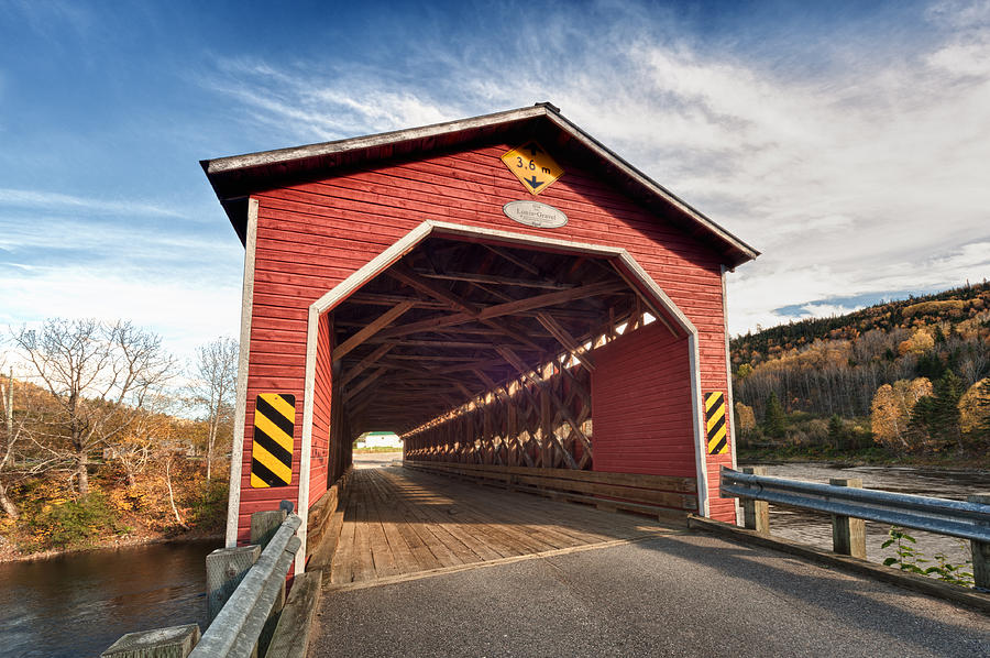 Bridge Photograph - Wooden Covered Bridge  by Ulrich Schade