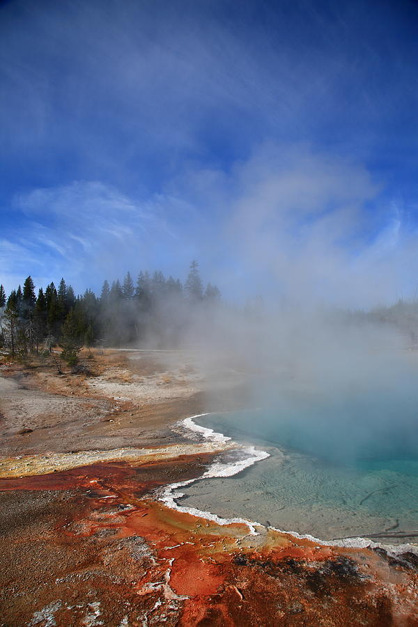 America Photograph - Yellowstone Park Geyser by Frank Romeo