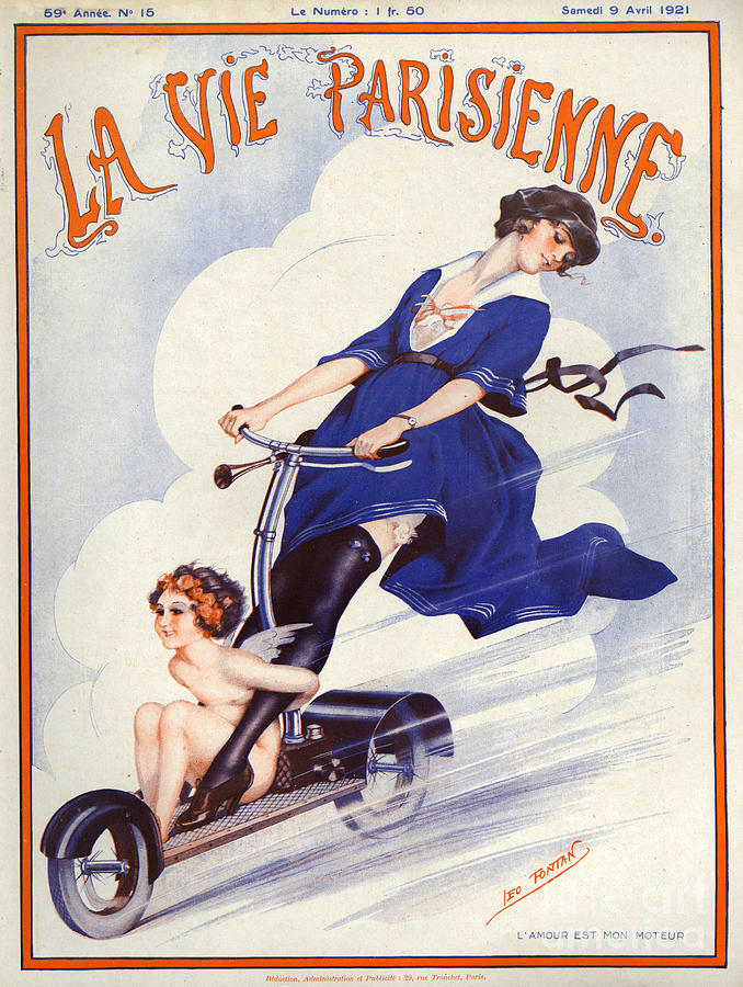 1920s France La Vie Parisienne Magazine Drawing  - 1920s France La Vie Parisienne Magazine Fine Art Print