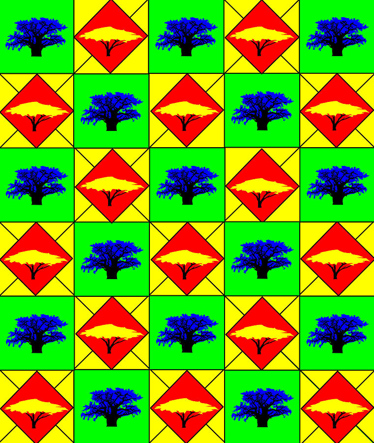 30 Acacia And Boabab Trees In South Africa Digital Art