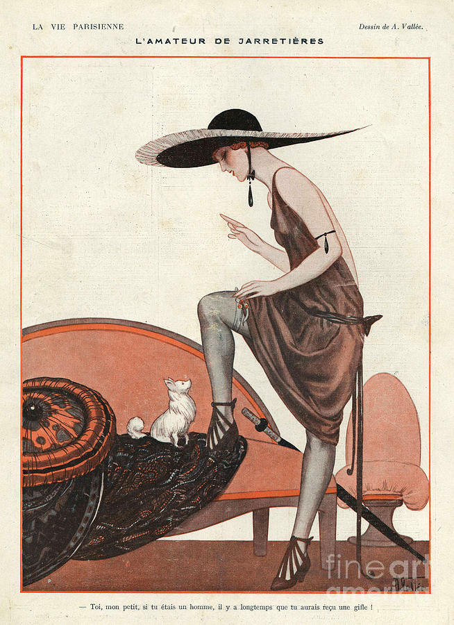 La Vie Parisienne 1922 1920s France Drawing