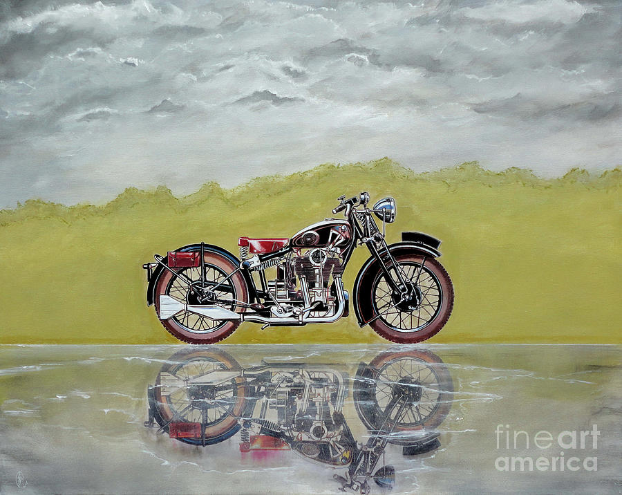Motorcycle Painting - 31 Matchless Silverhawk by John Lyes
