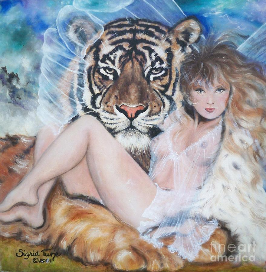 329  Tiger Angel Painting