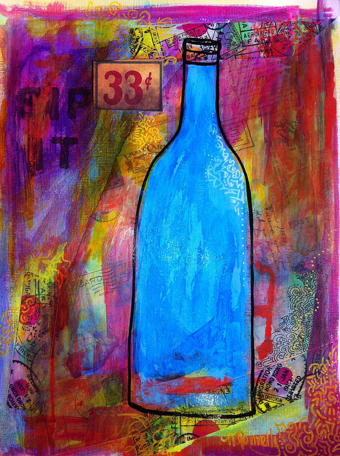 All Art Painting - 33 Cents by Maggi Connelly