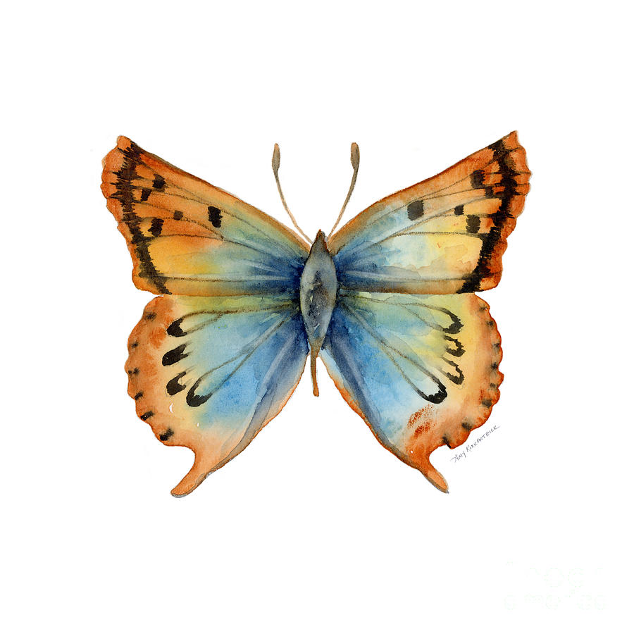 33 Opal Copper Butterfly Painting
