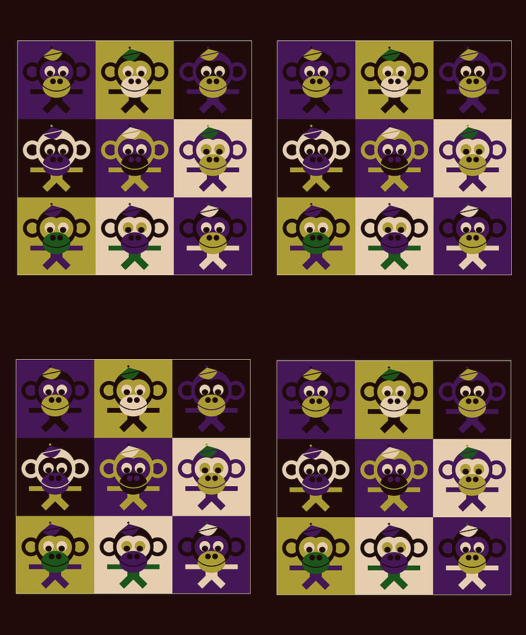 36 Bernhards From My Fairy Tales On Bown Digital Art - 36 Bernhards From My Fairy Tales On Bown by Asbjorn Lonvig
