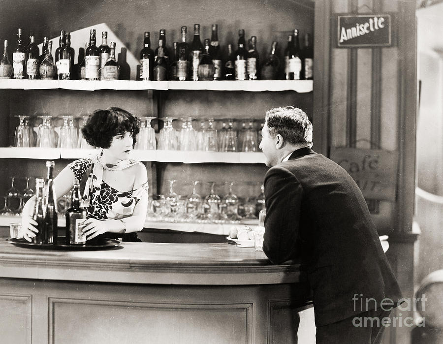 Silent Film Still: Drinking Photograph
