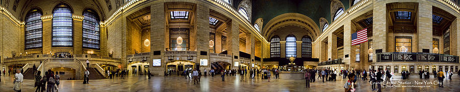 360 Panorama Of Grand Central Station Photograph  - 360 Panorama Of Grand Central Station Fine Art Print