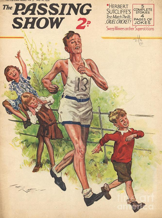 1930s,uk,the Passing Show,magazine Cover Drawing