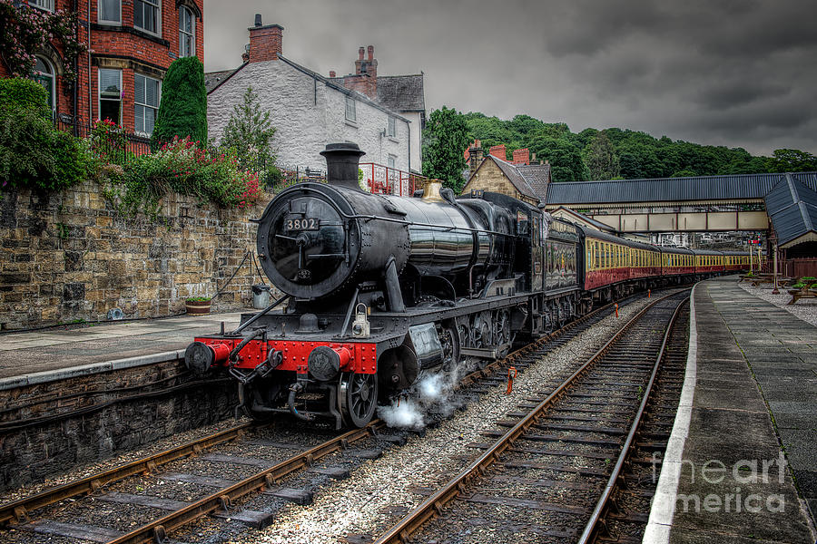 3802 At Llangollen Station Photograph