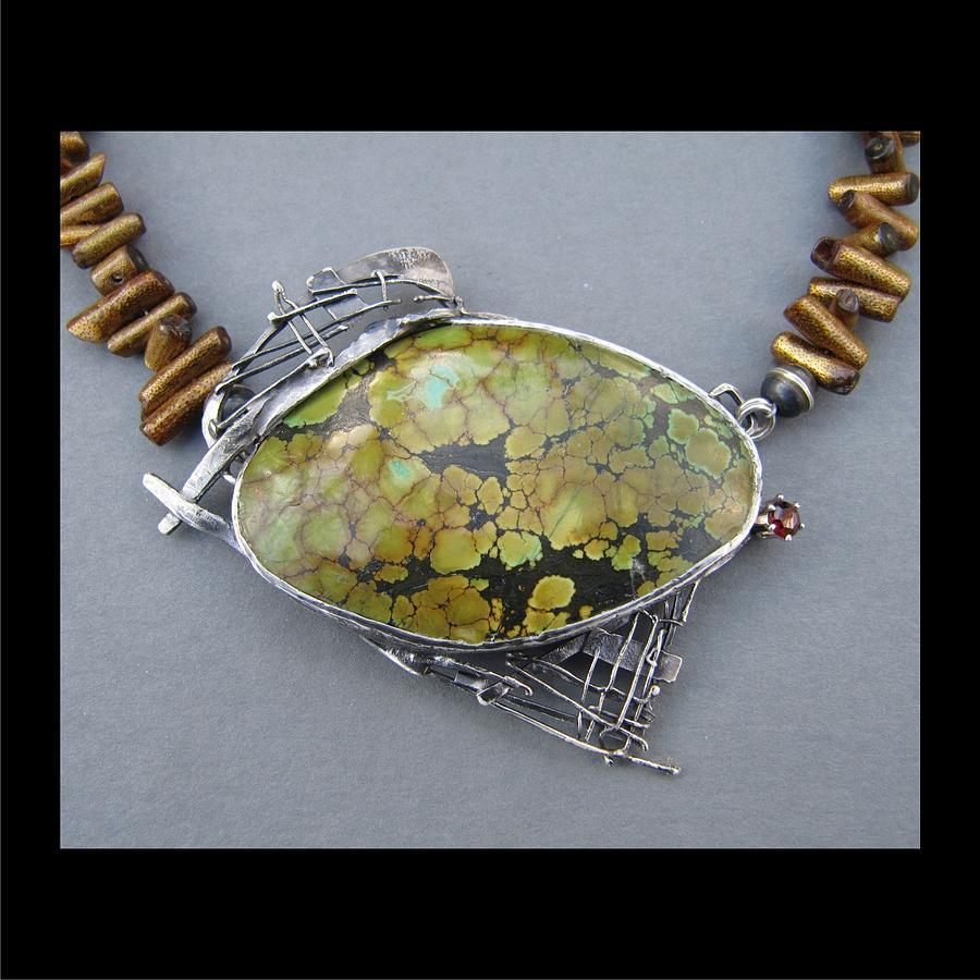 382 Twig Work Olive Turqouise Stone Jewelry