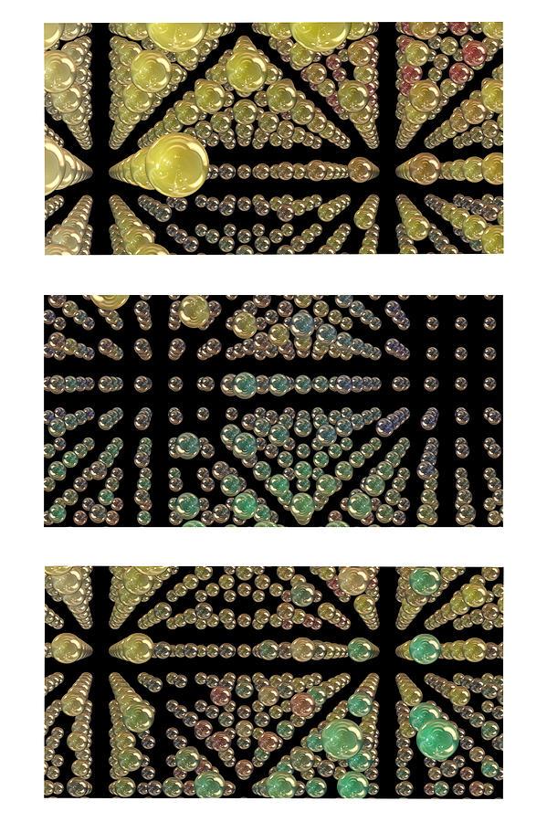 Abstract Photograph - 3d Spheres by Susan Leggett