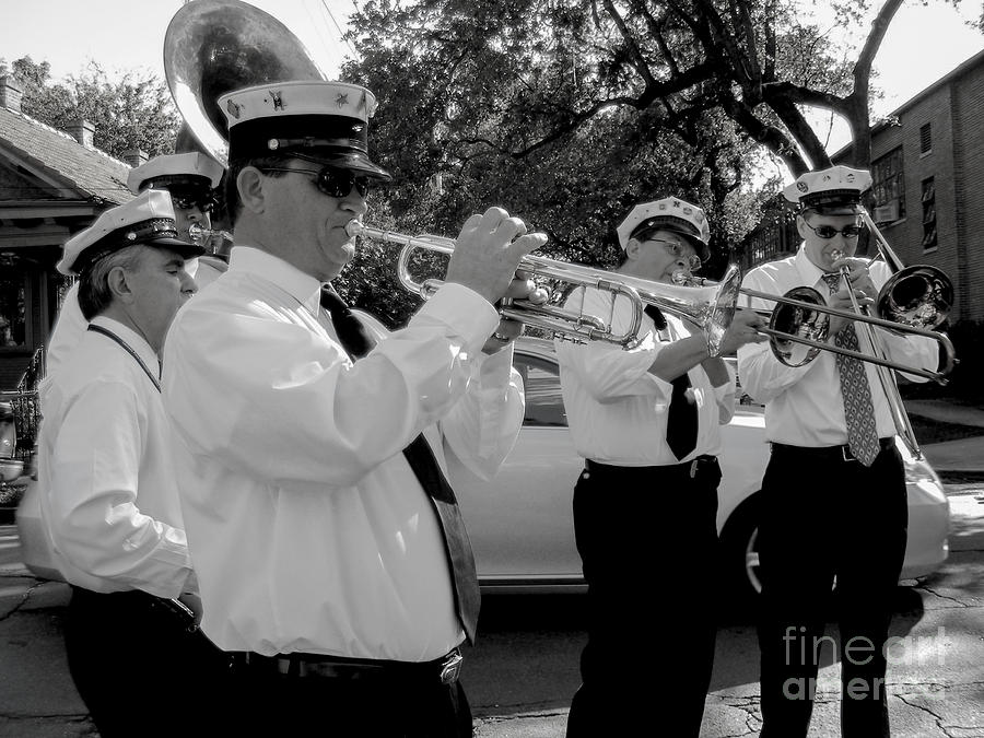 3rd Line Brass Band Second Line Photograph  - 3rd Line Brass Band Second Line Fine Art Print