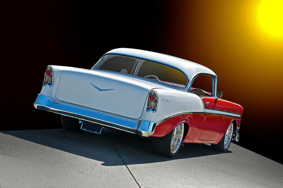 Auto Photograph - 1956 Chevrolet Bel Air by Dave Koontz