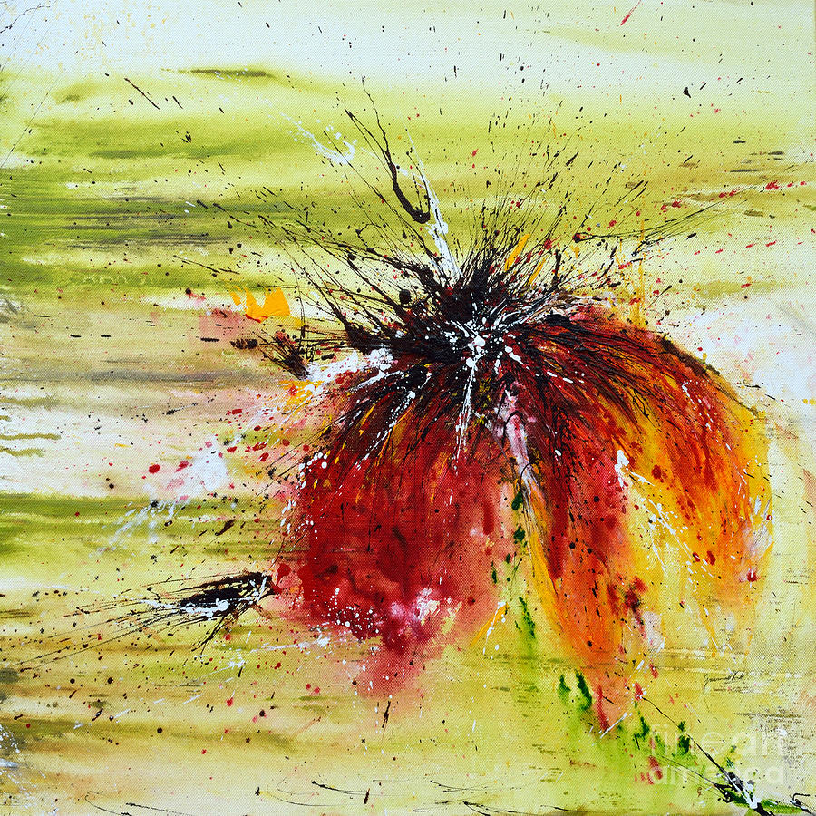 Emotion Painting - Abstract Flower by Ismeta Gruenwald