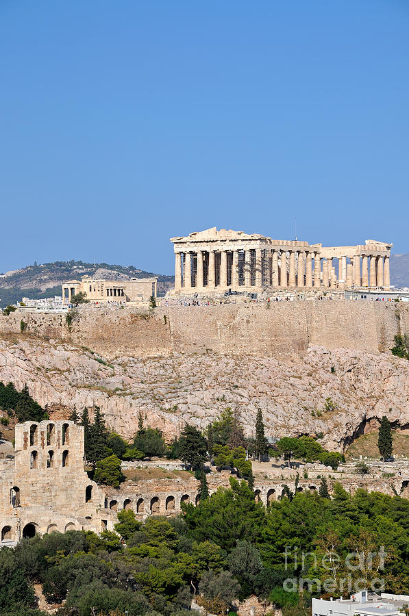 Acropolis Of Athens by George Atsametakis