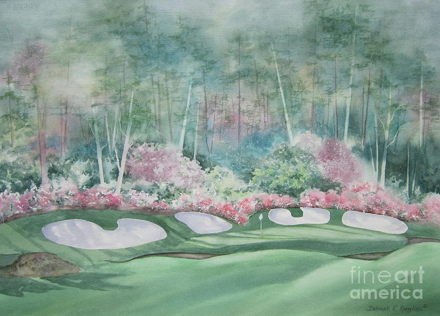 Augusta National 13th Hole Painting