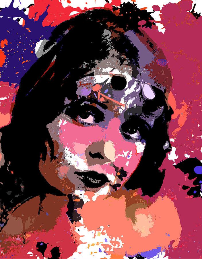 Clara Bow Digital Art  - Clara Bow Fine Art Print
