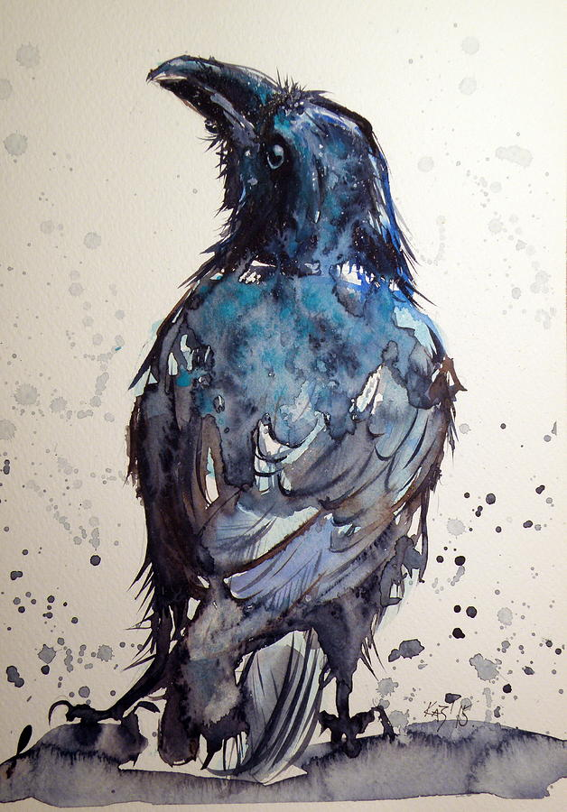 Crow Painting by Kovac...