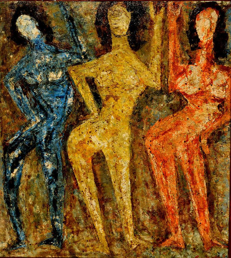 Dance Dance Danceoil On Canvas Painting - Dance Dance Dance by Anand Swaroop Manchiraju