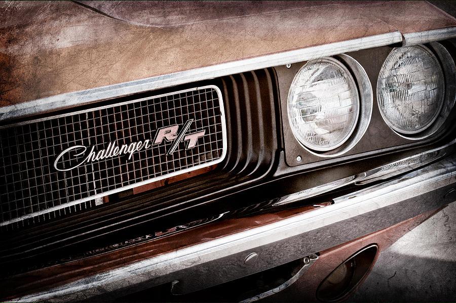 Dodge Challenger Rt Grille Emblem Photograph