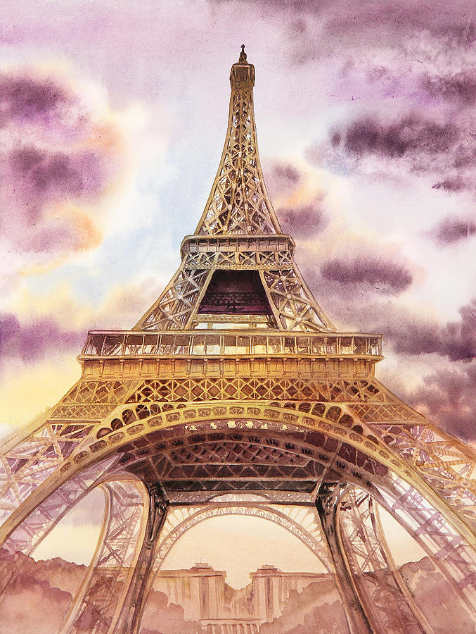 Eiffel Tower Paris France Painting  - Eiffel Tower Paris France Fine Art Print