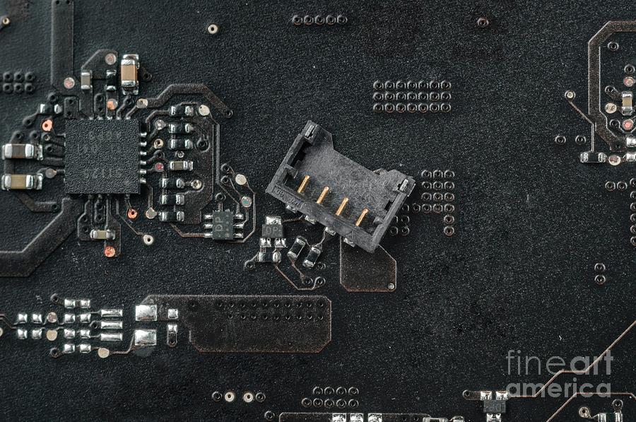 Electronic Board Closeup Photo Pyrography