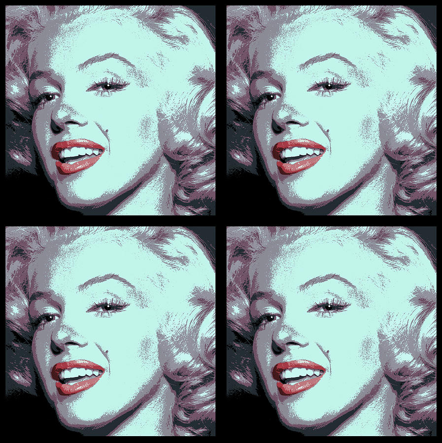 4 Frame Marilyn Pop Art Digital Art