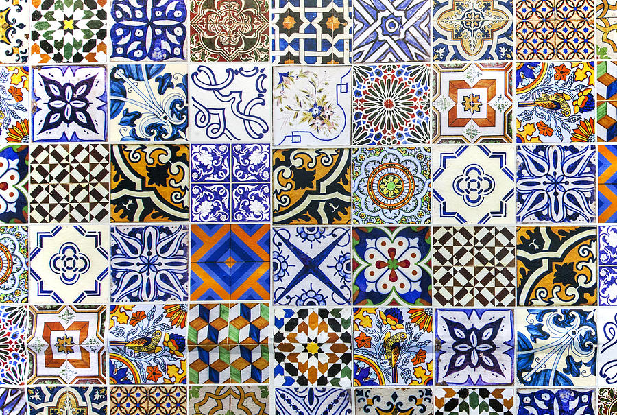 Hand painted portuguese ceramic tile photograph by andre - Hand painted ceramic tile ...