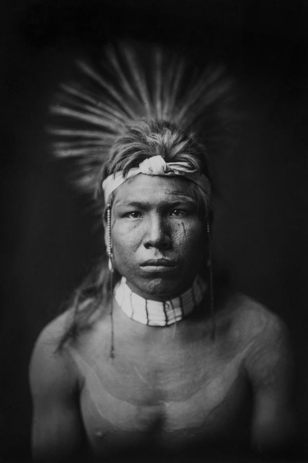 1905 Photograph - Indian Of North America Circa 1905 by Aged Pixel