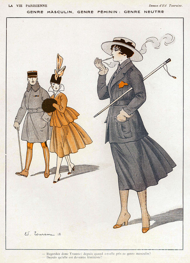 La Vie Parisienne  1916 1910s France Cc Drawing