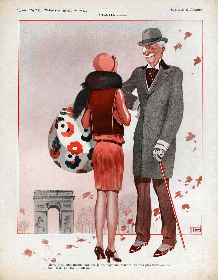 La Vie Parisienne  1928 1920s France Cc Drawing  - La Vie Parisienne  1928 1920s France Cc Fine Art Print