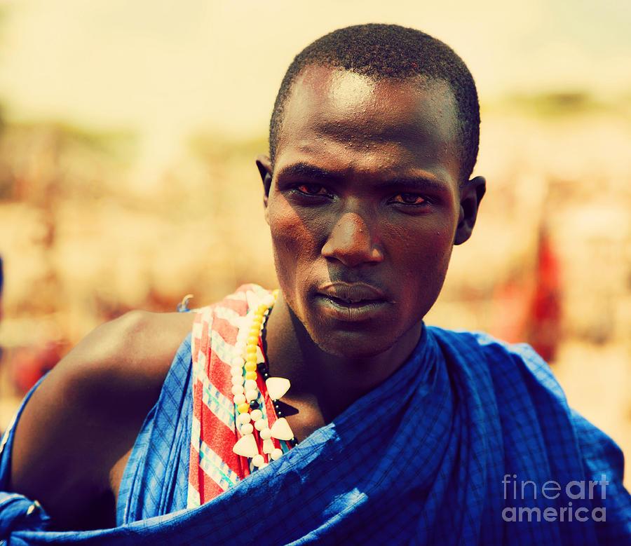 Africa Photograph - Maasai Man Portrait In Tanzania by Michal Bednarek