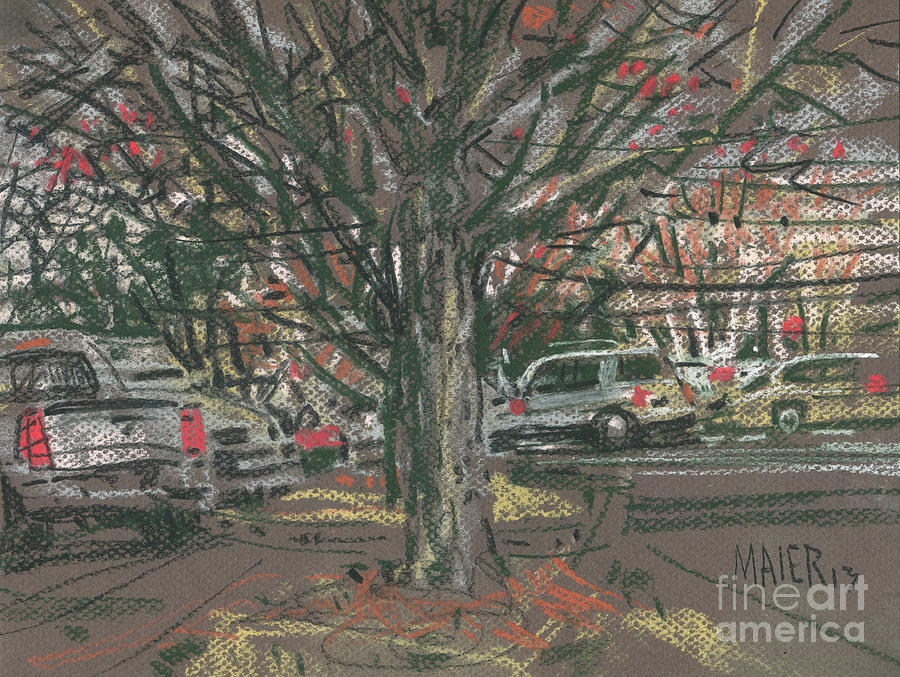 Mall Parking Painting  - Mall Parking Fine Art Print